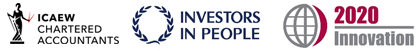 Affliate logos: ICAEW | Investors in People | 2020 Innovation